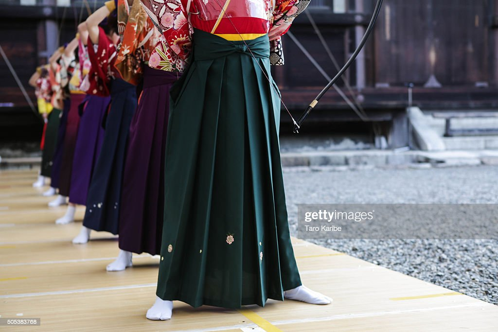 Coming Of Age Archery Ceremony In Kyoto : News Photo