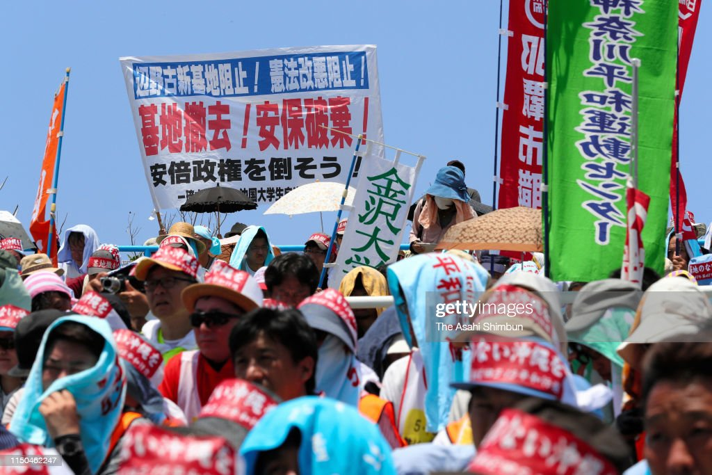 JPN: Okinawan Gather At Meeting For Peace