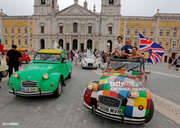 Participants start to arrive in the parking area in Mafra after the parade of Citroen classic cars 2CV during the World 2017 2CV meeting July 30,...