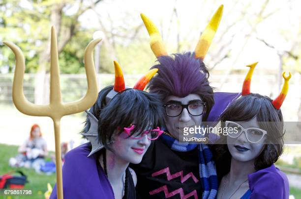 Participants take part at the festival ''Kyiv Comic Con'' in Kiev Ukraine 6 May 2017 The festival of fans moviescomics cosplay films and TV series...