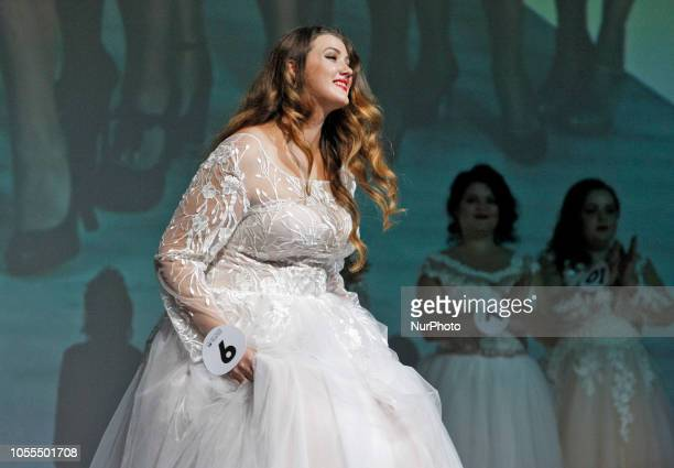 Participants take part at the quotMiss Ukraine Plus Size 2018quot beauty contest in Kiev Ukraine on 29 October 2018 The competition which was first...