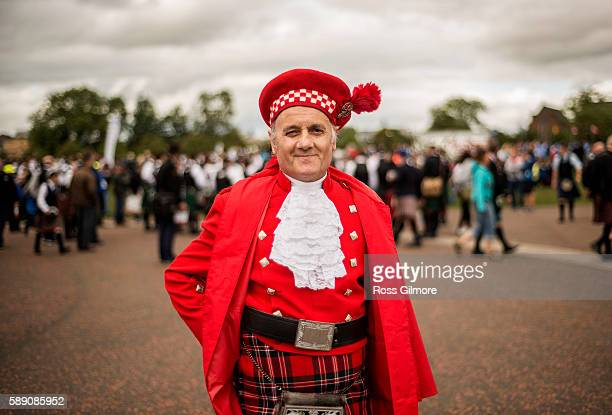 Participants take part in 2016 World Pipe Band Championships grade one qualifiers at Glasgow Green on August 13 2016 in Glasgow Scotland The annual...