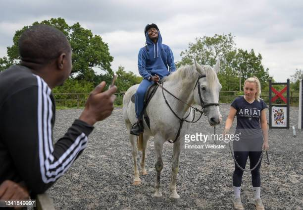 Participants take part in Key4Life's rehabilitation programme which includes work with horses at the residential retreat centre, on September 22,...