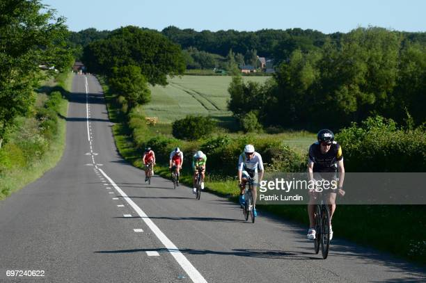 Participants take part in the IRONMAN 703 Staffordshire on June 18 2017 in Stafford England