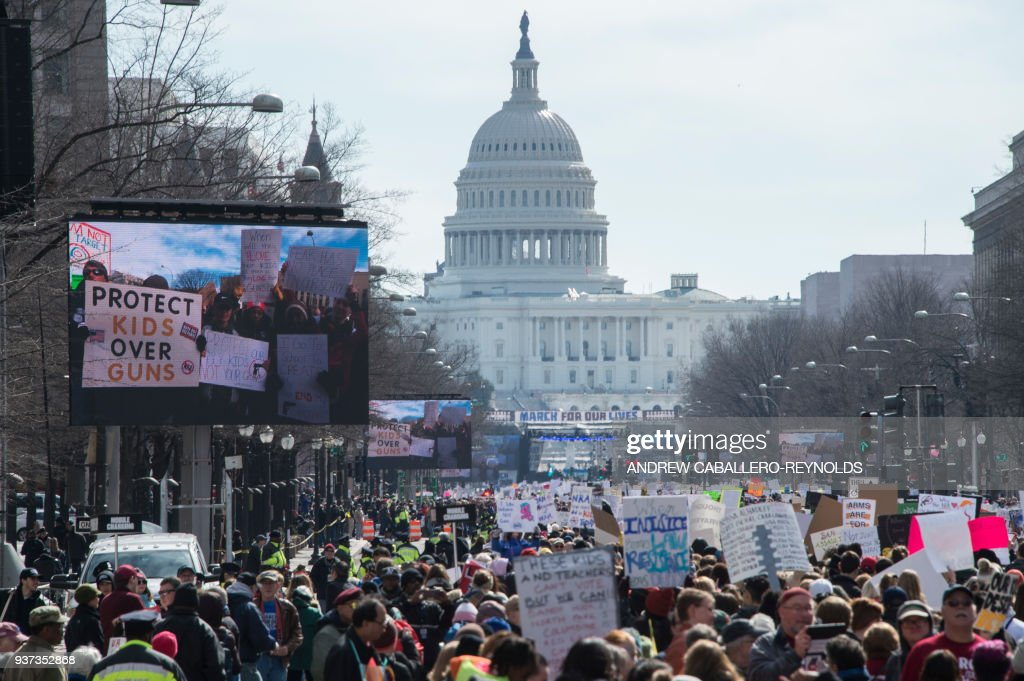 US-SCHOOL-SHOOTING-PROTEST-POLITICS : News Photo