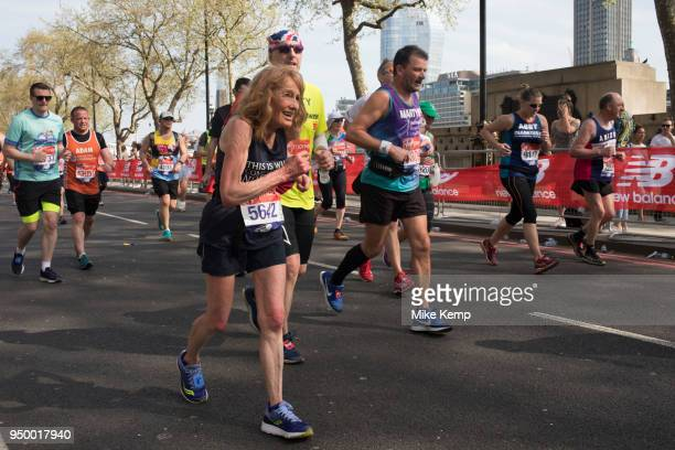 Participants taking part in the London Marathon on 22nd April 2018 in London England United Kingdom The London Marathon presently known through...
