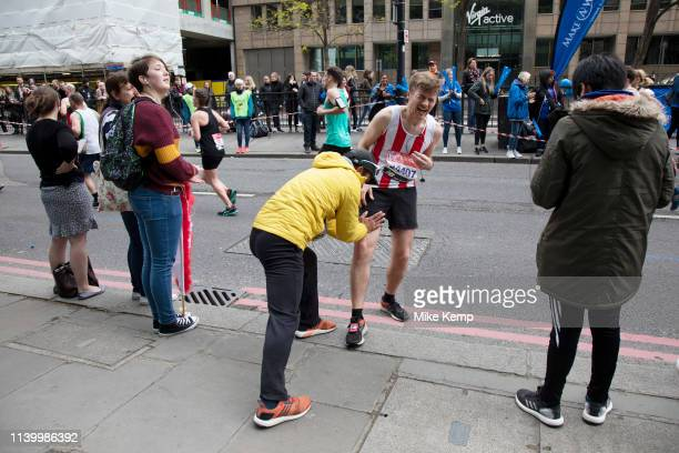 Participants taking part in the London Marathon on 28th April 2019 in London, England, United Kingdom. The London Marathon, presently known through...