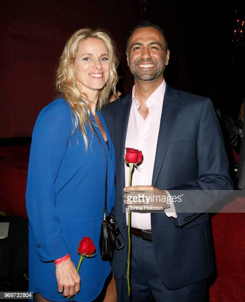 Participating Bachelors and their winning dates attend the Babes for Boobs live auction benefiting Susan G Komen LA at El Rey Theatre on June 7 2018...