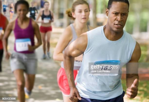 Participating in the marathon