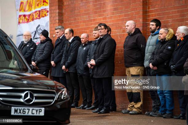 Partick Thistle Chief Executive Gerry Britton gathers to pay tribute to Partick Thistles majority shareholder Colin Weir at The Energy Check Stadium...