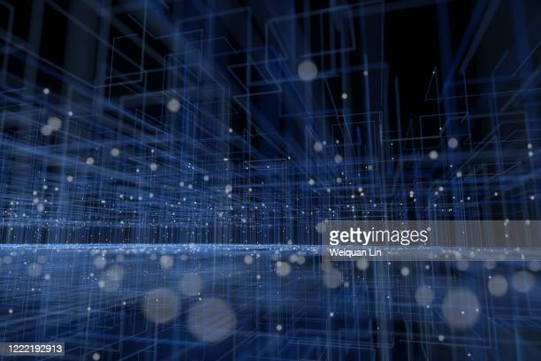 particle three-dimensional space - data stock pictures, royalty-free photos & images