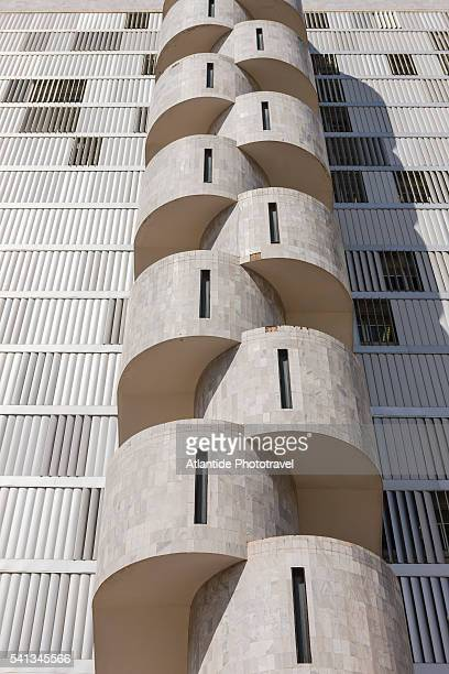 particular of a stair of a building - brasilia stock pictures, royalty-free photos & images
