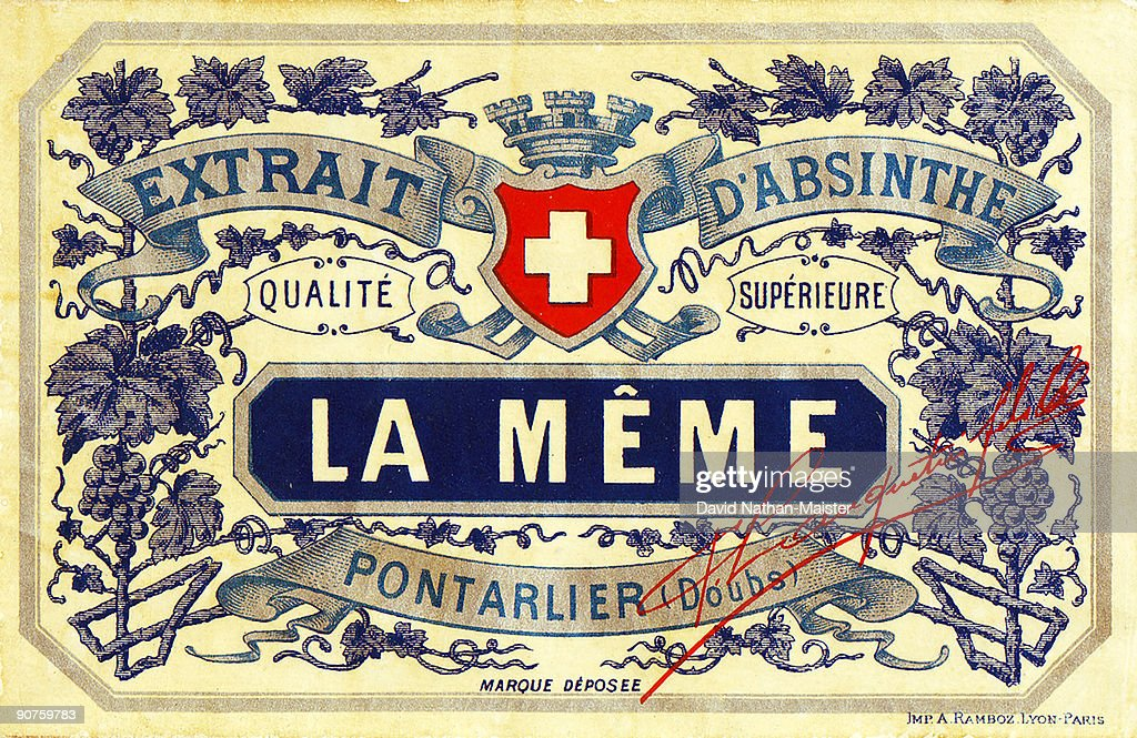 particularly cheeky brand was called la meme which means the same in picture id90759783 la meme absinthe label, c 1900 pictures getty images