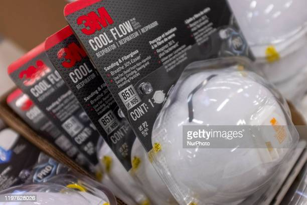 3M N95 particulate filtering face mask are seen at a store in East Palo Alto California United States on January 26 2020 There are now 8235 confirmed...