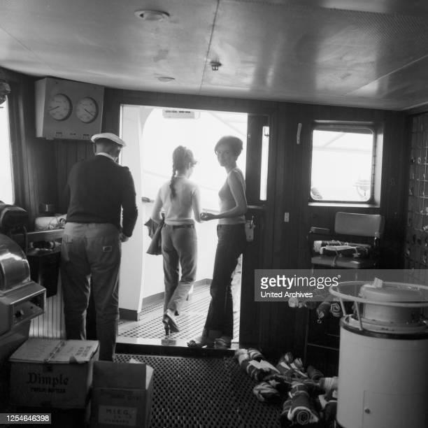 Partie auf einer Seereise nach Marokko, 1960er Jahre.
