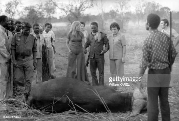 Partie de chasse pour le président JeanBedel Bokassa en Centrafrique en 1975