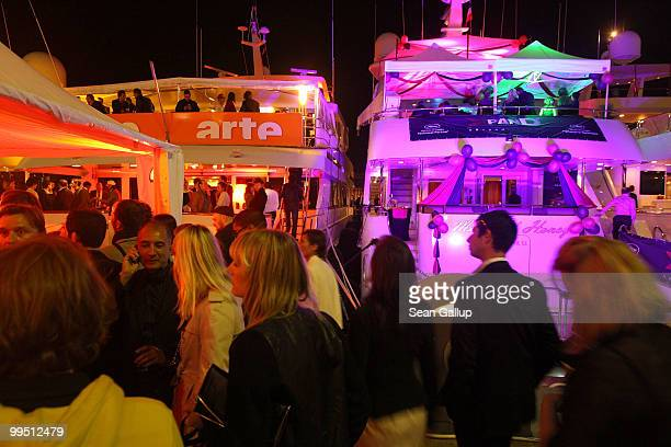 Parties take place on the yachts during the 63rd Annual Cannes Film Festival on May 14 2010 in Cannes France