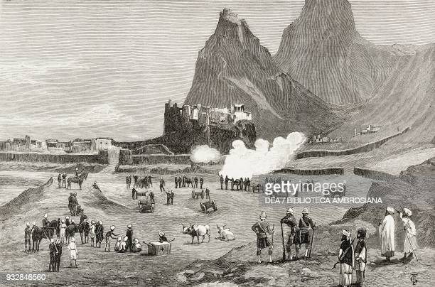 Parting shot at Kandahar Afghanistan illustration from the magazine The Graphic volume XXIII n 600 May 28 1881