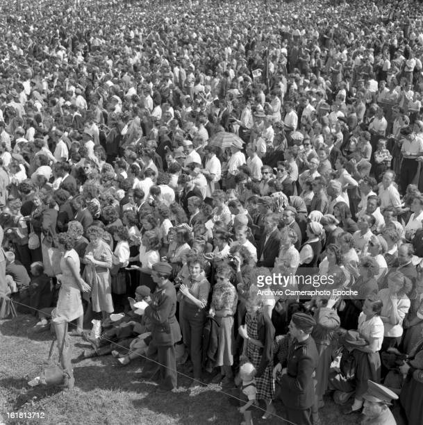 Partisans gather in Okroglica near Sempas or Sambassa in Slovenia for a speech by Yugoslav statesman Josip Broz Tito 6th September 1953