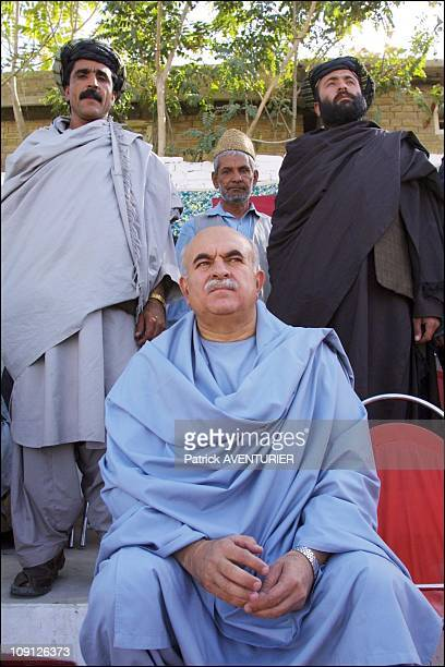 Partisans Of Former Afghan King Zaher Shah Demonstrate In Quetta On July 10Th 2001 In Quetta Pakistan Mehmood Khan Achakzai Chief Of The Pashtoon...