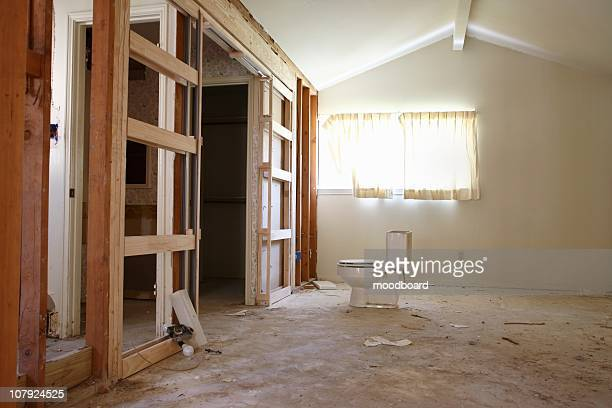 Partition wall in house renovation, Houston, Texas