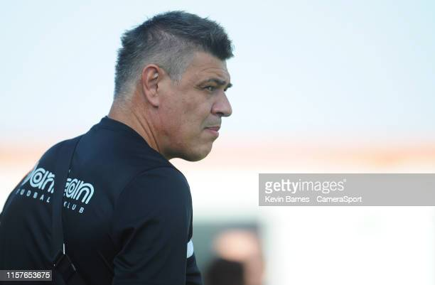Partizan Belgrade's Manager Savo Milosevic before the Europa League 2nd Qualifying Round 1st Leg match between Connah's Quay Nomads and Partizan...
