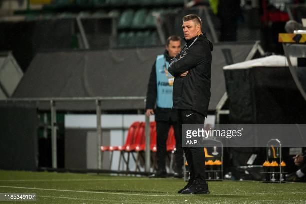 Partizan trainer coach Savo Milosevic during the UEFA Europa League group L match between AZ Alkmaar and FK Partizan at Cars Jeans stadium on...