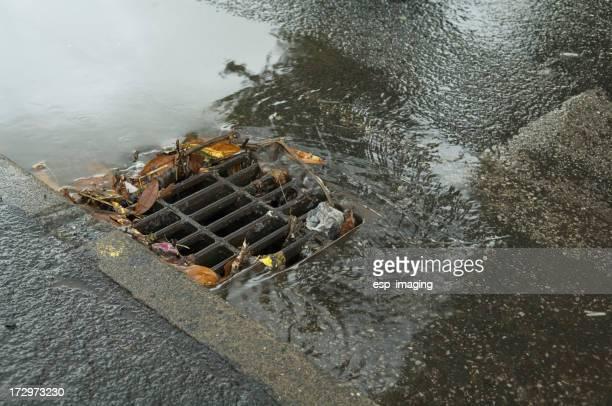 Partly blocked drain