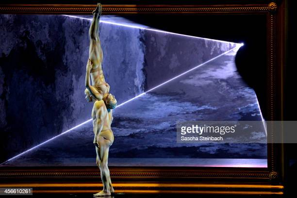 Partner acrobats 'La Vision' perfom during the finals of 'Das Supertalent' at Coloneum on December 14 2013 in Cologne Germany