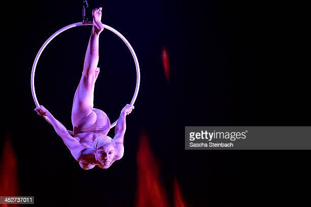 Partner acrobats 'La Vision' perfom during the first live show of 'Das Supertalent' at Coloneum on November 30 2013 in Cologne Germany