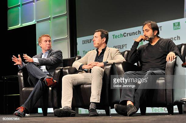 Partner Andreessen Horowitz Ted Ullyot Founder and CEO of Tusk Holdings Bradley Tusk and Managing Director of General Catalyst Hemant Taneja speak...