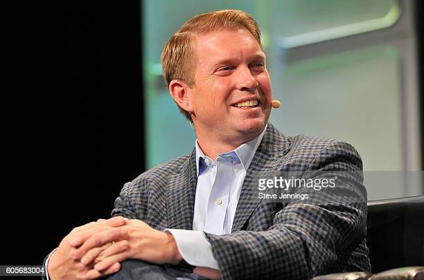 Partner Andreessen Horowitz Ted Ullyot speaks onstage during TechCrunch Disrupt SF 2016 at Pier 48 on September 14 2016 in San Francisco California