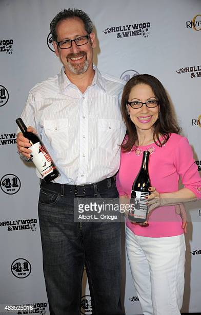 Partner Arthur Andelson in Kismet Talent Agency and attorney Vicki Roberts at the Hollywood Wine For Your Valentine Photo Op held at 41 Sets at...