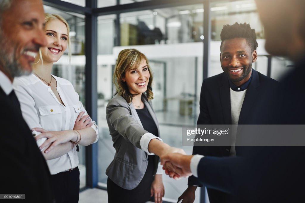 Partner zusammen um ihren größten Erfolg noch zu erreichen : Stock-Foto