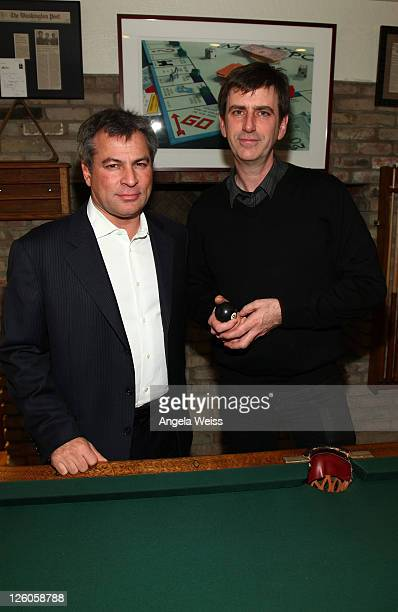Partners and CoCEOs of AAM Andy Kipnes and Mark Beavan attend the Friends N Family Dinner at The Jack Warner Estate on February 10 2011 in Los...
