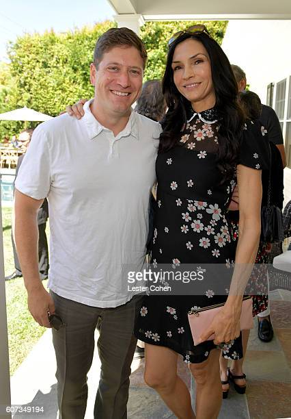 Partners' Carter Cohn and actress Famke Janssen at the ICM Partners PreEmmy Brunch on September 17 2016 in Santa Monica California