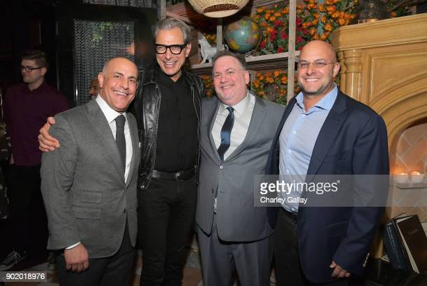 ICM Partners Founding Partner and Board Member Ted Chervin actor Jeff Goldblum producer/writer Bruce Miller and ICM Partners Managing Partner Chris...