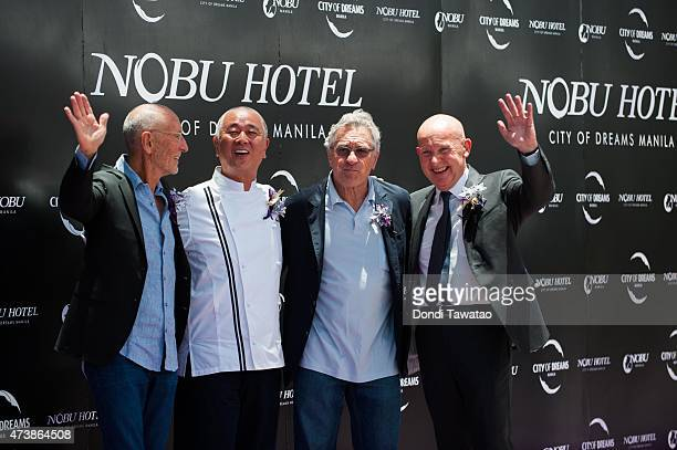 Partners in Nobu Hospitality Hollywood film producer Meir Teper founding Chef of Nobu Restaurant Nobu Matsushita Academy award winning actor Robert...