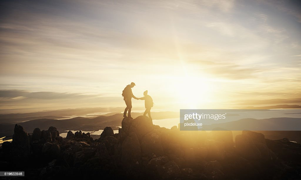 Partners through the journey of life : Stock Photo