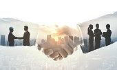 Partnership of business concept.