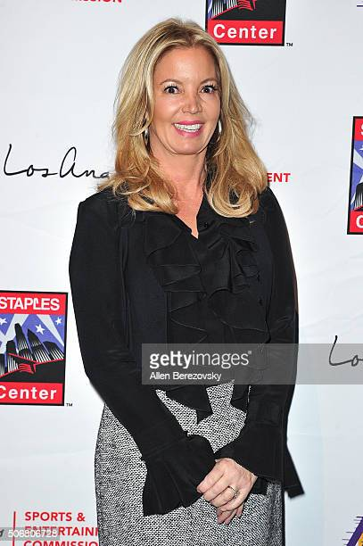Partowner and president of the Los Angeles Lakers Jeanie Buss attends the 12th Annual Lakers AllAccess at Staples Center on January 25 2016 in Los...