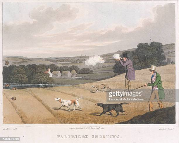 Partridge Shooters With Their Dogs by Henry Alken