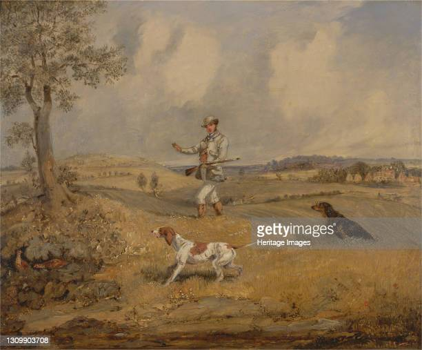 Partridge Shooting, ca. 1825. Artist Henry Thomas Alken. .