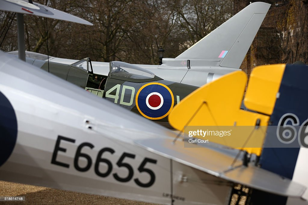 Parts of a full-scale replica of a Eurofighter Typhoon , a