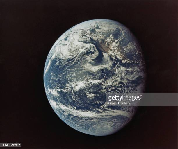 Parts of North America and Central America as seen from the Apollo 11 spacecraft during its translunar journey toward the Moon 16th July 1969 The...