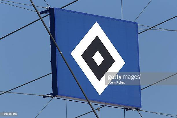 Parts of the HSH Nordbank Arena pictured during the Hamburger SV training session at the HSH Nordbank Arena on March 25 2010 in Hamburg Germany