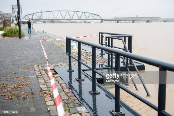 Parts of the Waalkade in Nijmegen have suffered some damage because of the high water level