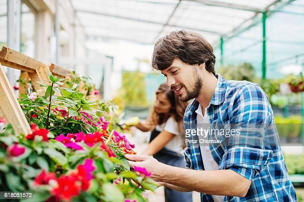 Part-time job in a garden center