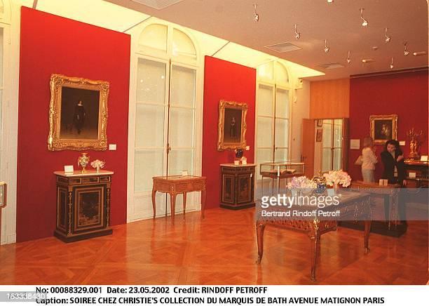 """Party at Christie's collection of the """"Marquis de Bath"""" Avenue Matignon Paris."""
