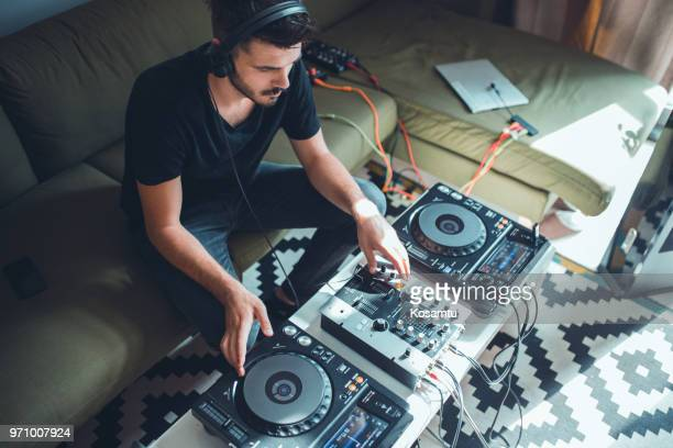 party at home - dj stock pictures, royalty-free photos & images